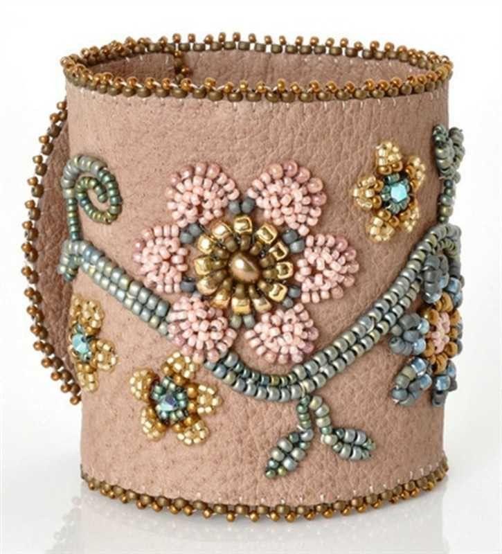 Bead Kits-Elegant Garden-Beige Suede-Kit Only-Pattern Sold Separately