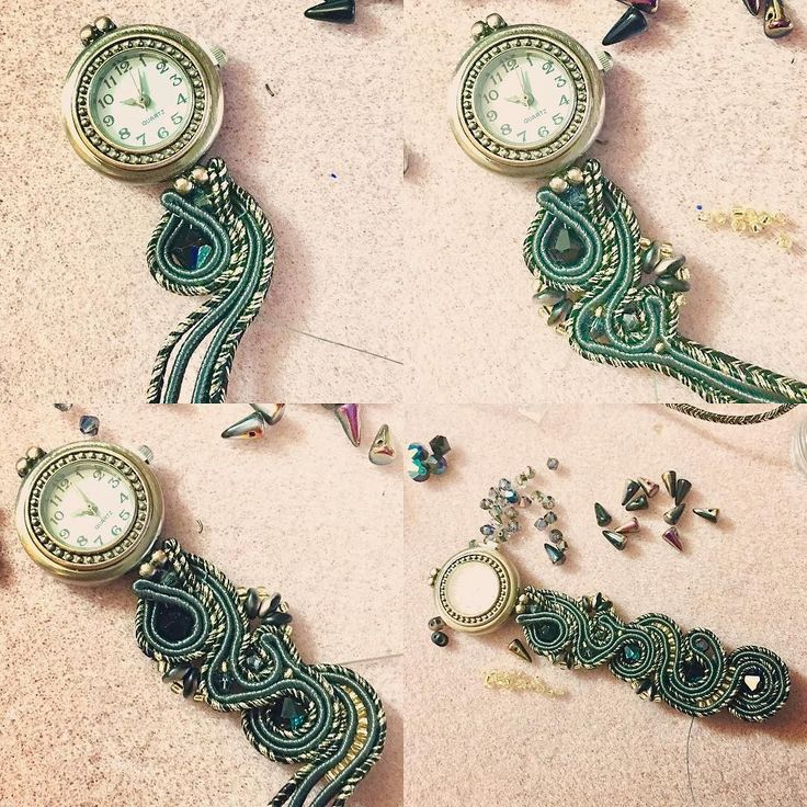Iniziamo questo 2017 creativo con un #workinprogress ! Nei miei buoni propositi per il nuovo anno c'è quello di dare finalmente un senso ad alcune basi per #orologio che ho acquistato diversi anni fa quindi ho iniziato con il mio primo orologio gioiello da polso in #soutache !! . . #archidee #becreative #bepositive #soutachemania #soutachejewelry #soutaches #bracelet #watch #watchoftheday #handmadewatch #instajewelry #fashionjewelry #fashiongram #jewelrygram #jewelrytrends #jewelryblogger…