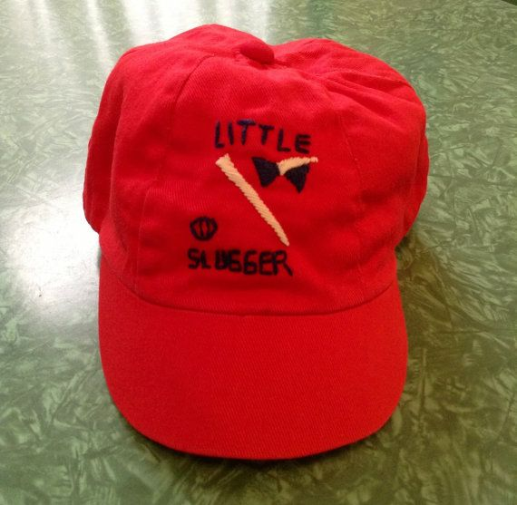Vintage Red Baby Baseball Cap Hat Little By