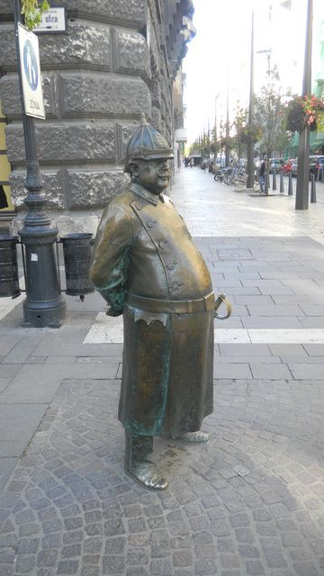 Budapest Firefighter statue