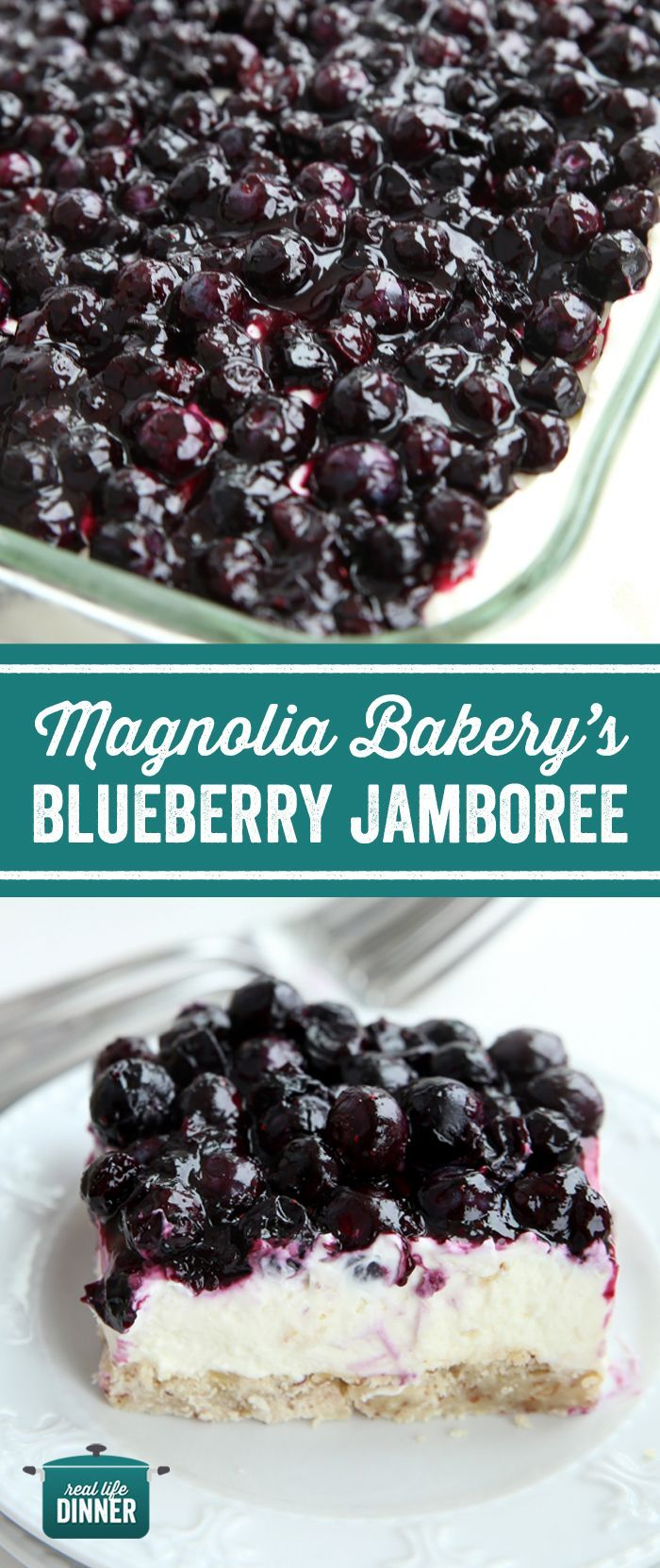 Copy Cat Recipe of Magnolia Bakery Blueberry Jamboree. A bright, delicious flavors come together to make a beautiful and memorable blueberry dessert that is perfect for Mother's Day, Easter and other Spring and Summer special occasions.