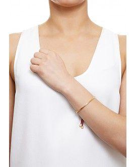 Red Slider Gold Cord Bracelet