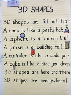 3D Shapes Poem!