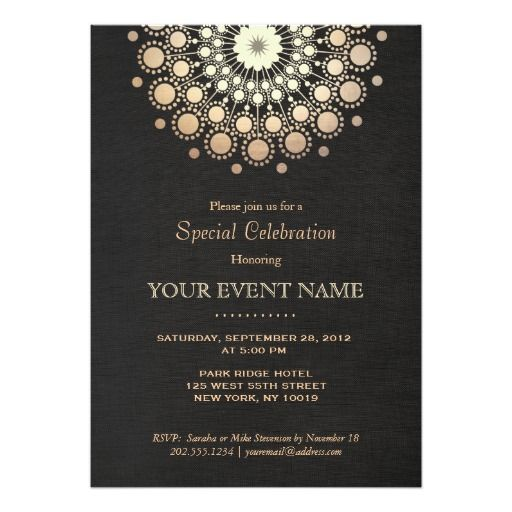 414 best Elegant Birthday Party Invitations images on Pinterest