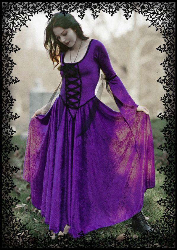 Purple Gothic wedding dress | Magnificent Gothic Wedding ...