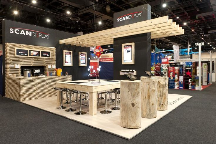 Exhibition Stand Table : Too much wood but some cool pieces within the booth