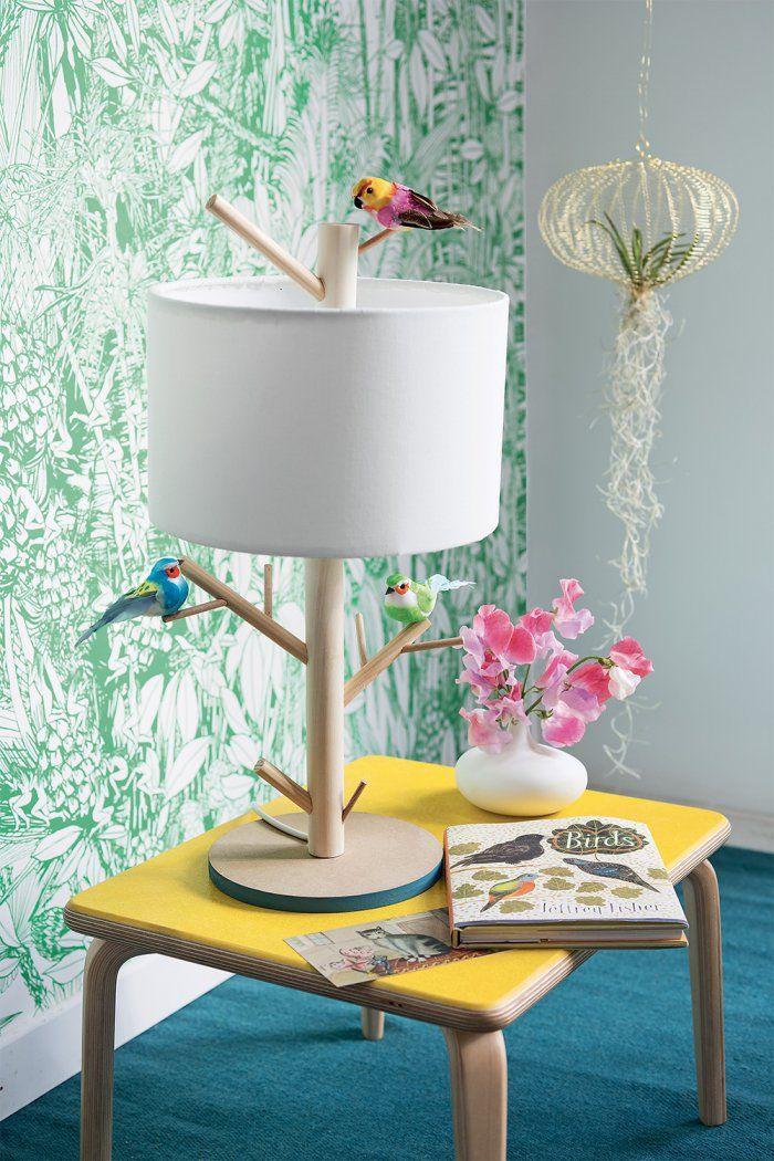 DIY Bricolage: Faire soi-même une lampe perchoir- DIY bird lamp - Marie Claire Idées