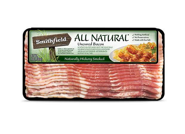 *** Smithfield All Natural Uncured Bacon, 100 mg/2 slices