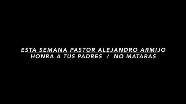 Te invitamos a que prepares tu corazón para el 5to y 6to mandamiento, honra a tus Padres y No mataras esta semana el Pastor Alejandro Armijo estará predicando este sermon te esperamos para que nos visites en fbcespanol, en nuestra pagina de Facebook, Vimeo, o nuestra web www.fbcespanol.org. Tus amigos de fbcespanol.