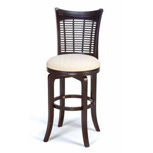 Halbrooke Smoke Swivel Bar Stool Hillsdale Furniture Bar Height (28 To 36 Inch) Bar Stools