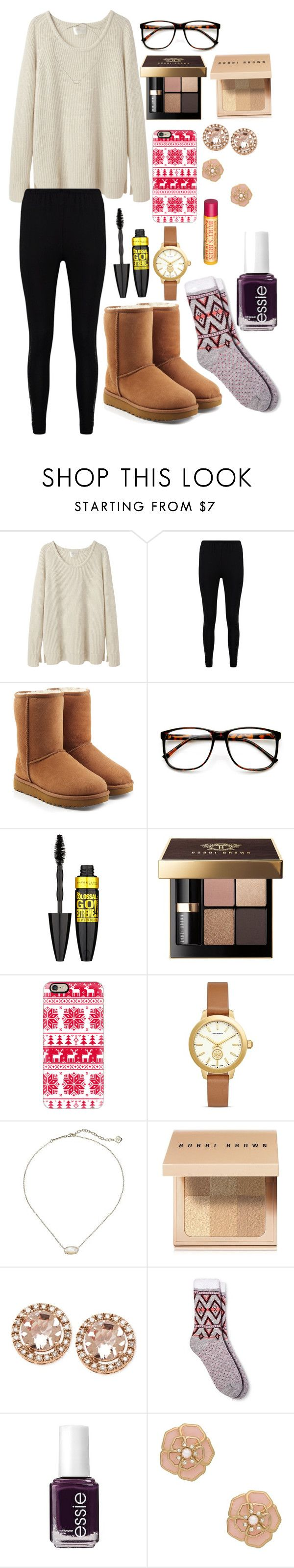 """Untitled #58"" by kaoriroberts ❤ liked on Polyvore featuring La Garçonne Moderne, Boohoo, UGG, ZeroUV, Maybelline, Bobbi Brown Cosmetics, Casetify, Tory Burch, Kendra Scott and Merona"
