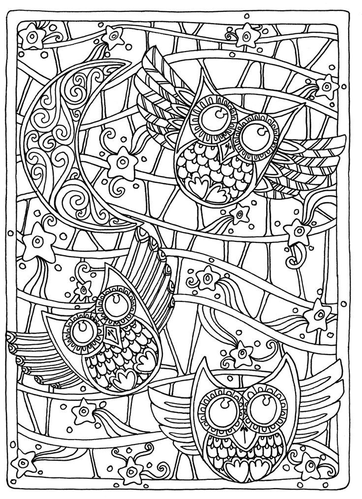 23 best Abstract Coloring Pages images on Pinterest