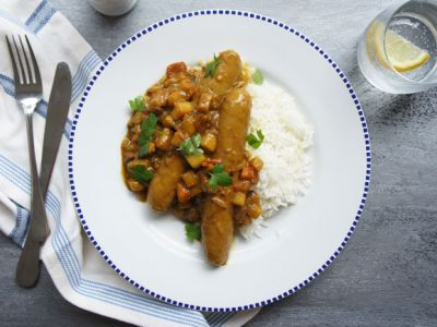 Best Ever Curried Sausages