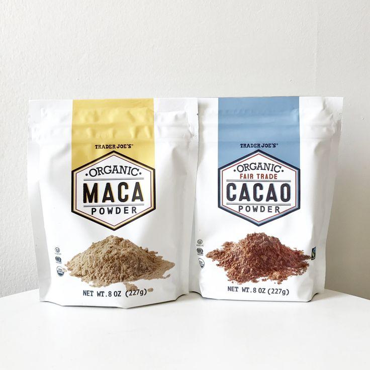 Organic Cacao Powder ($4) and Organic Maca Powder ($5)