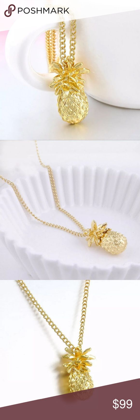 〽️Mon Ami Merci〽️Pineapple Chain Necklace Mon Ami Merci, brand new item, like this listing and will notify you when in stock. Price will be adjusted once the item arrives so no one can purchase until then. Merci Beaucoup!💋 Jewelry Necklaces