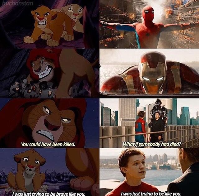 Parallels.. great. Peter is already such a cutie and now with the lion king.. kill me why don't you