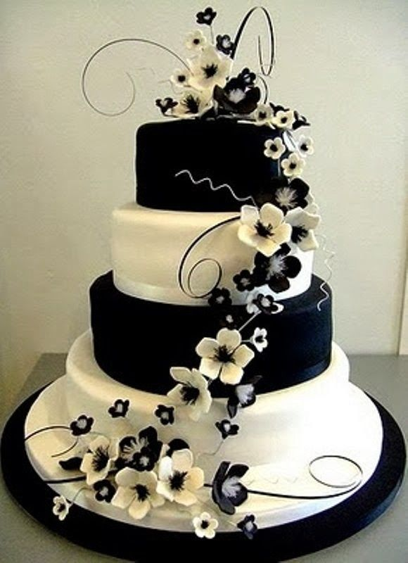 New Latest Cake Images : latest wedding cake designs 2014 Black and White ...