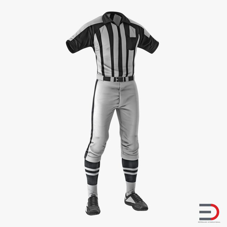 American Football Referee Uniform 3D