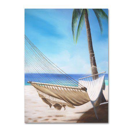 Trademark Fine Art 'Beach Hammock' Canvas Art by Geno Peoples, Size: 24 x 32