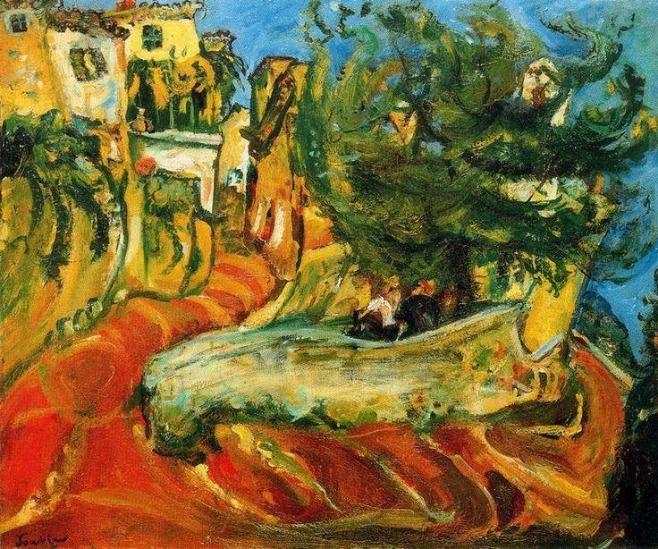 soutine paintings | Soutine, Street of Cagnes-sur-Ner, c1924, 65 x 78 cm, University of ...