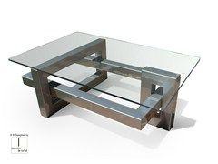 Tavolini In Vetro E Acciaio : Tavolino rettangolare in acciaio inox e vetro ios tavolino