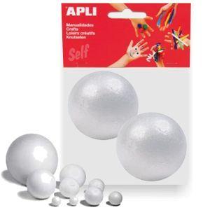 Bolas de Porexpan, corcho blanco, 70mm, Pack 2 uds. http://www.selfpaper.com/html/bolas-de-porexpan-corcho-blanco-70mm-g.html