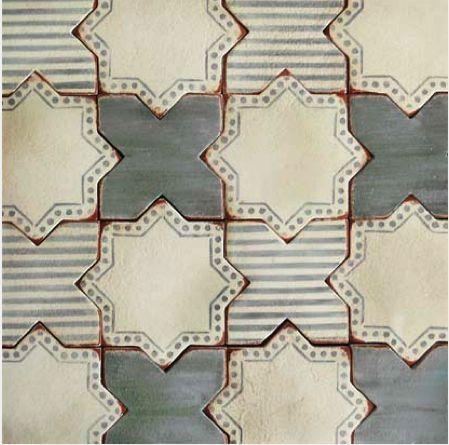 Hand Painted Tile, Moroccan Floor Tile, Tabarka Tile, Floor Tile Pattern, Terracotta Tile, Beautiful Tile, Moroccan Tile