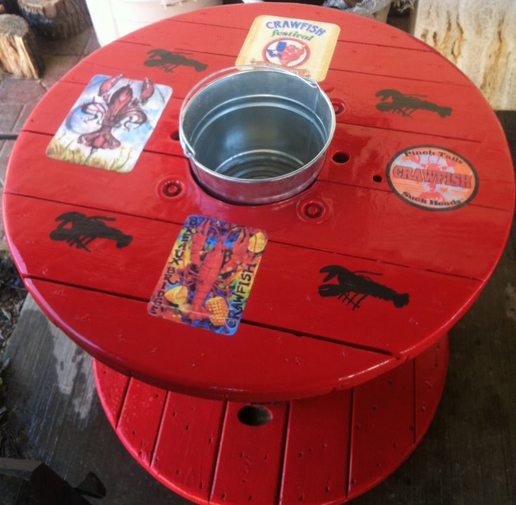 diy crawfish table - definitely doing, or something similar for our annual crawfish boil!