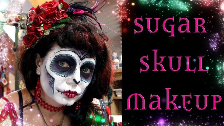 Easy Sugar Skull Makeup Tutorial - Day of the Dead Facepaint https://youtu.be/drK8r8hkULA