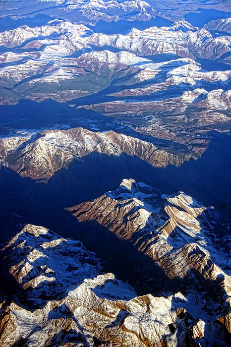 An Aerial photography view of the Colorado Rocky Mountains. Part of the PLANET eARTh Series by James Bo Insogna Fine art photography prints, decorative canvas prints, acrylic prints, metal Prints wall art  for sale on FineArtAmerica.com. Prints starting at $25. Copyright: James Bo Insogna