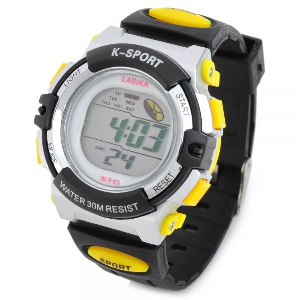 Sport Alarm Waterproof Rubber Band Quartz Digital Wrist Watch K-SPORT F45  #Unbranded #Sport