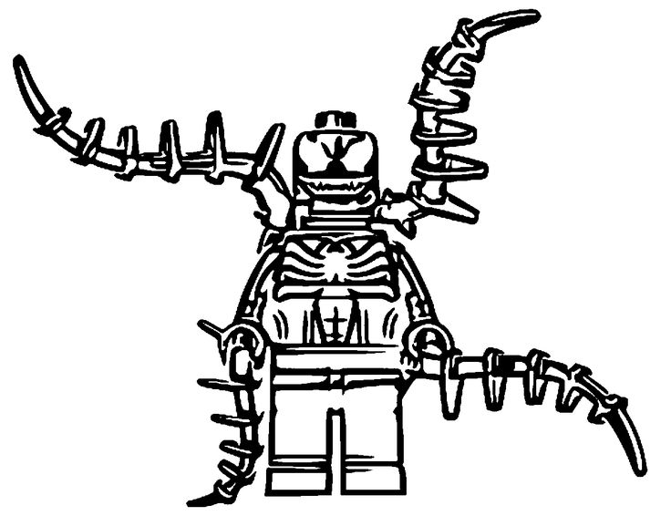 Lego venom coloring pages in 2020 | Lego coloring pages ...