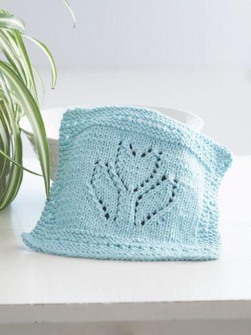 Spring Tulip Dishcloth | Yarn | Free Knitting Patterns | Crochet Patterns | Yarnspirations
