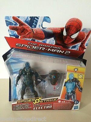 "Amazing Spider-Man Spiderman Electro Action Figure Toy 4"" - NEW - FREE UK P&P"