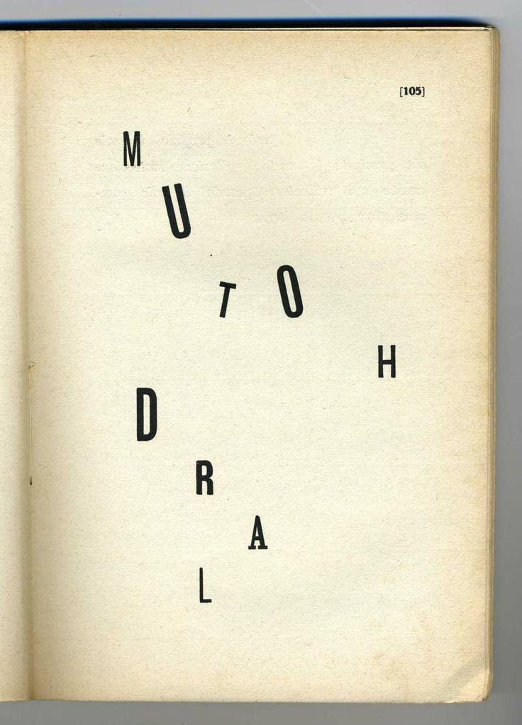 Filippo Tommaso Marinetti: Parole in Libertà, 1914