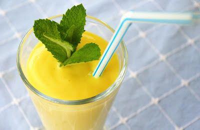 zadanie - gotowanie: Mango lassi z imbirem i cytryną.