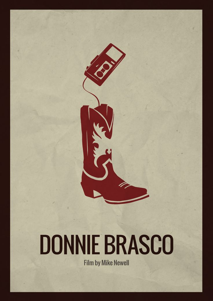 Donnie Brasco - Minimalist movie poster featuring Donnie's recorder stashed in his boot #GangsterMovie #GangsterFlick