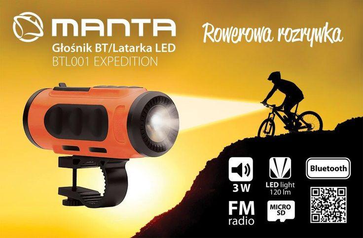Bezprzewodowy głośnik Bluetooth z wbudowaną lampką LED - dla wszystkich tych, którzy lubią spędzać czas wolny na rowerze i słuchać ulubionej muzyki.