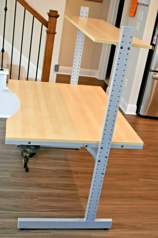 Ikea Jerker Desk Adjustable Height No Longer Made Euc Version Ii Ikea Adjustable Height Desk Adjustable Office Chair Desk Styling