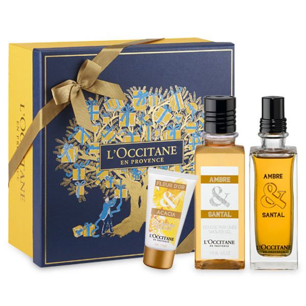 Coffret Parfumé Ambre & Santal prix promo L'Occitane 65.00 € TTC au lieu de 72.50 €