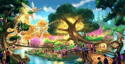 Tinkerbell Concept art for the Pixie Hollow section for ...
