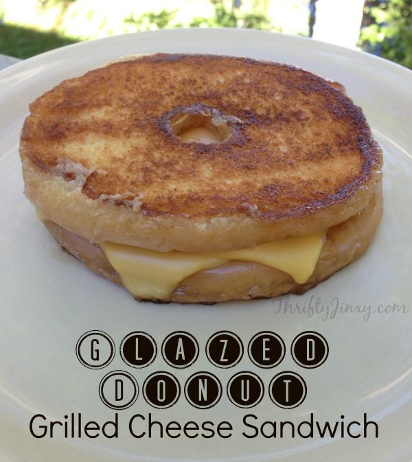 Glazed Donut Grilled Cheese Recipe - Thrifty Jinxy