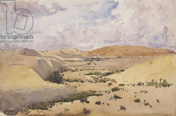 Romani, Romani Area, Sinai, Egypt, North Africa, 1920 (w/c & pencil on paper) Louis McCubbin