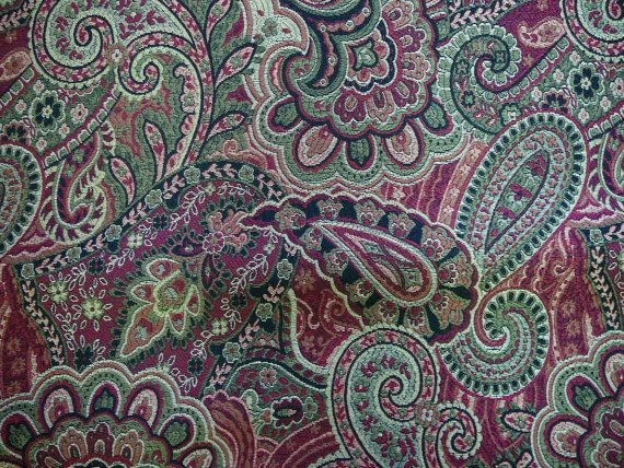 Woven tapestry with paisley pattern 2.5 yards by KaryLynns on Etsy, $37.50