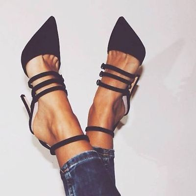 ZARA Leather Court Shoes with straps sandals heels Sold out Bloggers ALL SIZES |…