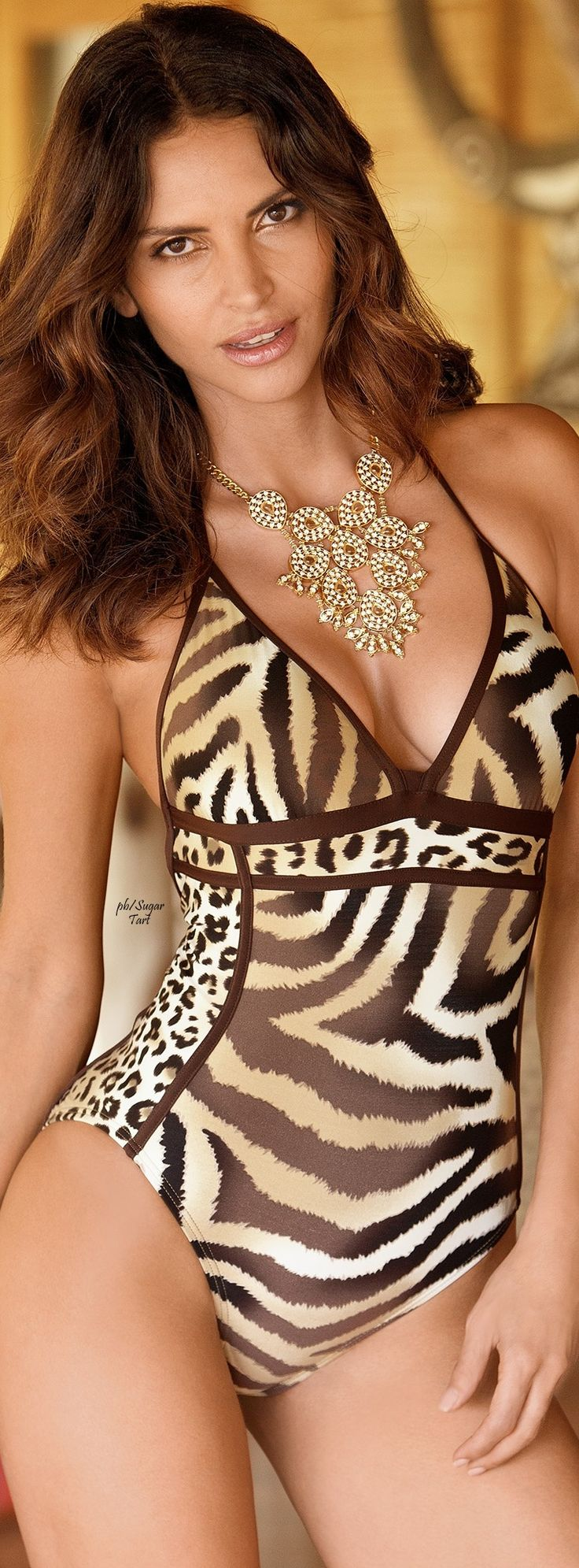 Animal print swimsuit - If only I had this body.... I would wear this in a heartbeat!!