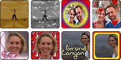 Poner el fondo transparente a las fotos  http://www.online-image-editor.com/ Tutorial en http://www.online-image-editor.com/help/transparency?language=spanish