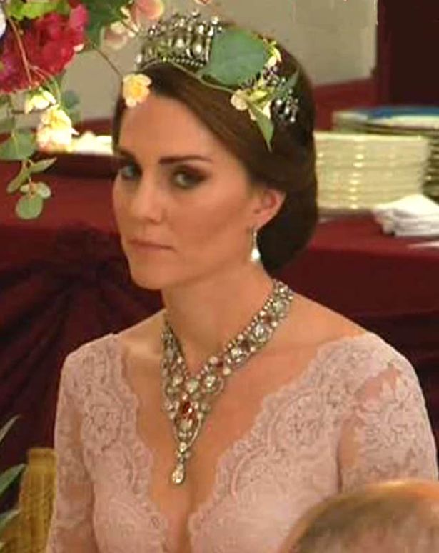 Kate looked dazzling in the tiara previously worn by Princess Diana