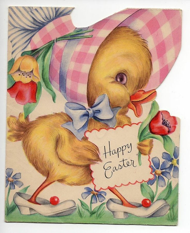Vintage Greeting Card (32) - HAPPY EASTER - BABY CHICK - QUALITY CARD