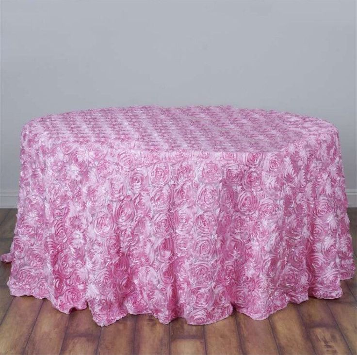 Baby shower tablecloth, HUGE SALE! Pink satin ribbon rosette tablecloth, table runner, table overlay, wedding tablecloth, diff colors avail by FantasyFabricDesigns on Etsy https://www.etsy.com/listing/398372705/baby-shower-tablecloth-huge-sale-pink